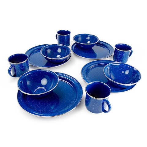 Image of Gsi Outdoors 12 Piece Pioneer Table Set - Blue