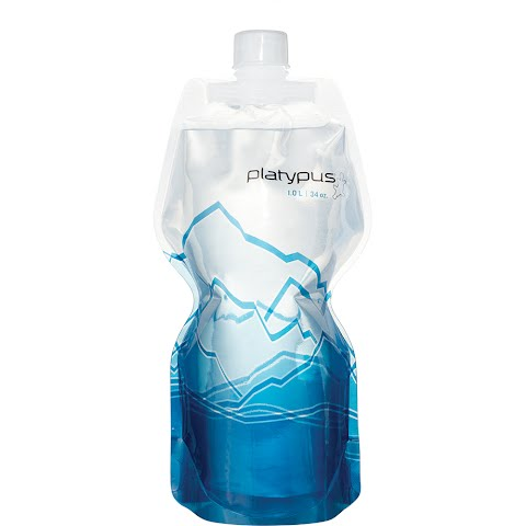 Image of Platypus 1 . 0l Softbottle With Closure Cap - Mountain