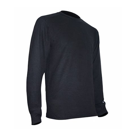 Image of Polarmax Mens Acclimate Wool Crew - Onyx