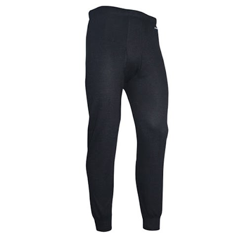 Image of Polarmax Mens Acclimate Wool Long Underwear Pants - Onyx