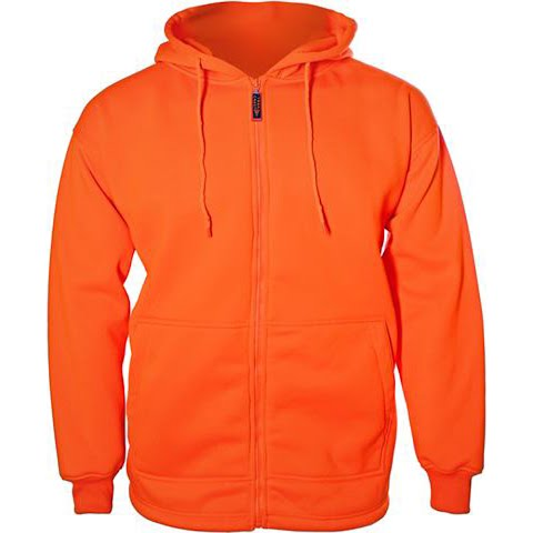 Trail Crest Youth Boys Blaze Zip Sweatshirt - Blaze Orange thumbnail