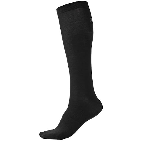 Image of Terramar Adult Over Calf Sock Liners - Black