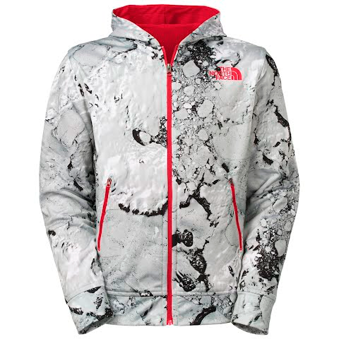 The North Face Men's Zalman Full Zip Hoodie - Tnf White Glacier Pr thumbnail