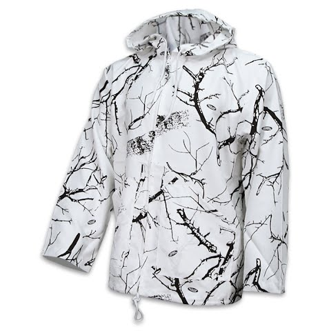 Trail Crest Mens Unlined Cover Up Hooded Jacket - Snow Camo thumbnail