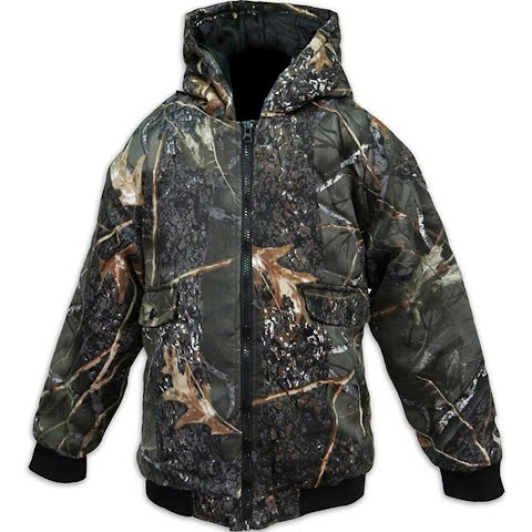 World Famous Kids Cotton Insulated Hooded Jacket – Burly Camo