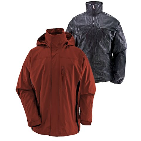 Image of White Sierra Mens All Sesons 4 In 1 Jacket - Clay