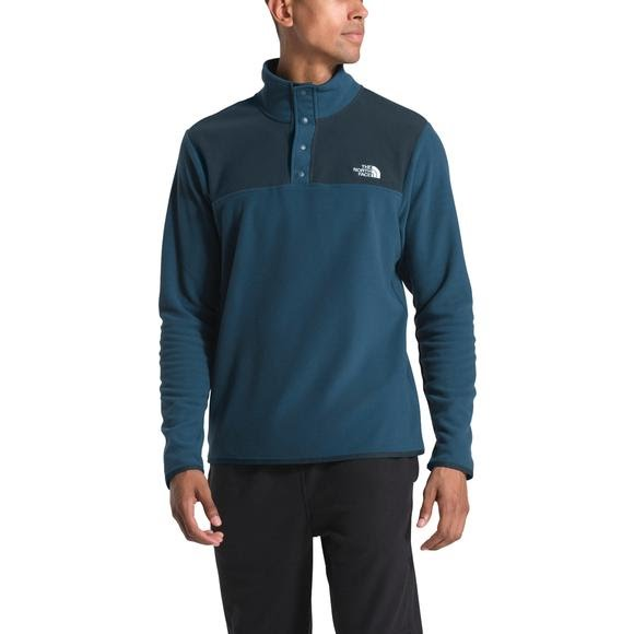 The North Face Men's TKA Glacier Snap-Neck Pullover Image