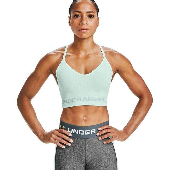 Under Armour Women's UA Seamless Low Long Heather Sports Bra Image