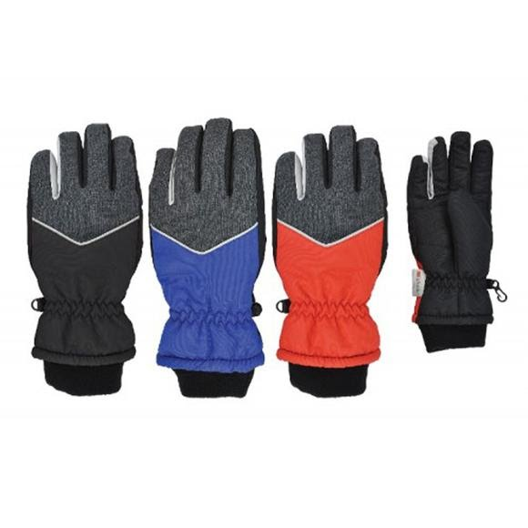 Grand Sierra Boy's Heathered Waterproof Ski Glove - Size 13-18 Image