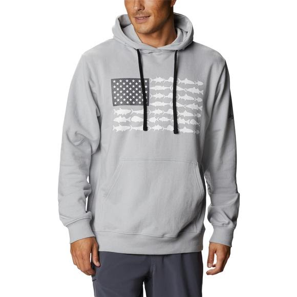 Columbia Men's PFG Fish Flag Hoodie Image