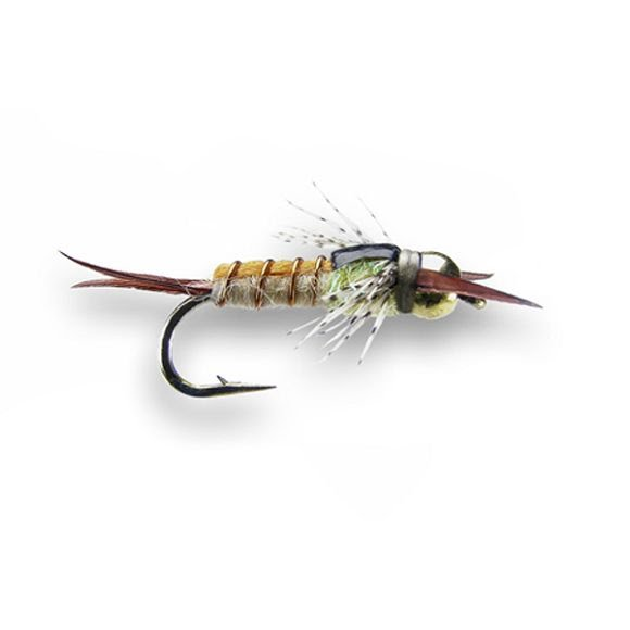 Montana fly company kyle 39 s bh yellow sally nymph 3pk for Sally t fishing