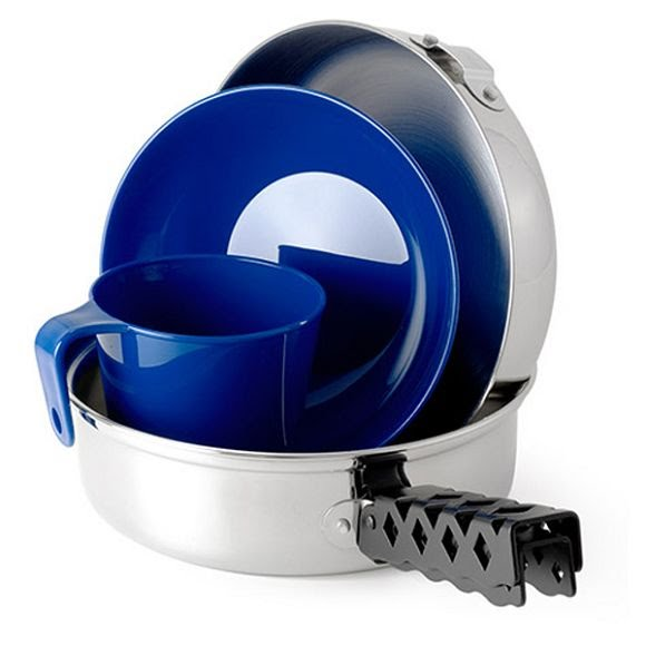 Gsi Outdoors Glacier Stainless Mess Kit Image