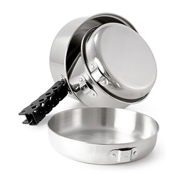 Gsi Outdoors Glacier Stainless Cookset (Small) Image