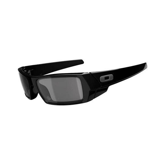 Oakley Gascan Sunglasses (Polished Black/Grey) Image