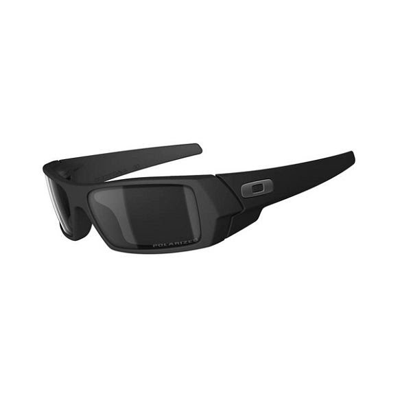 Oakley Gas Can Sunglasses Matte Black Frame with Polarized Black Iridium Lens Image