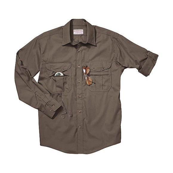 Filson Mens Featherweight Cloth Fly Fishing Shirt (Long ...