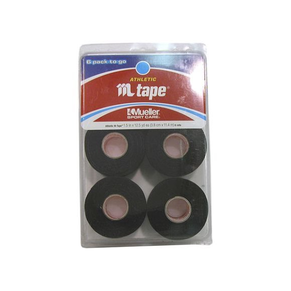 Mueller Black M Tape (6 Pack) Image