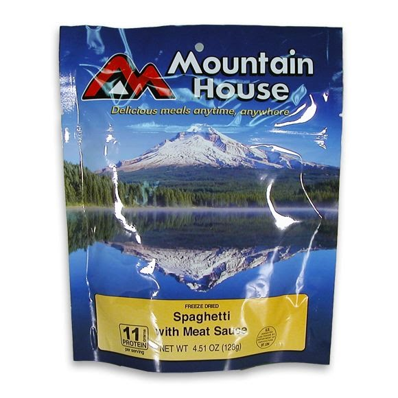 Mountain House Spaghetti with Meat Sauce (Serves 2) Image