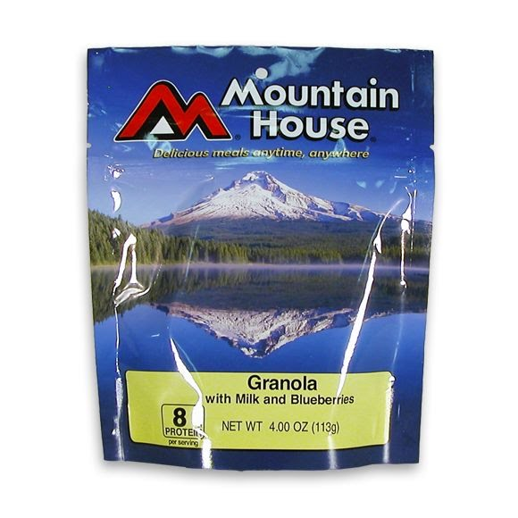 Mountain House Granola with Blueberries and Milk Image