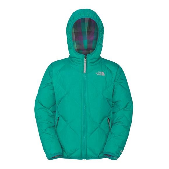 ef38cd5886 The North Face Girls Youth Reversible Down Moondoggy Jacket Image
