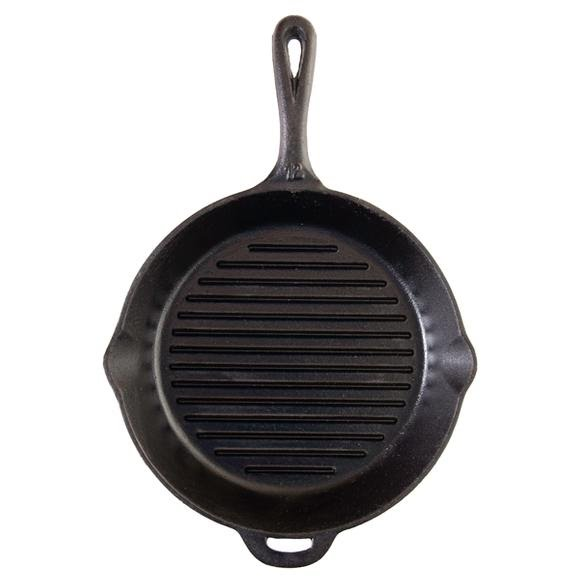 Camp Chef 12 Inch Seasoned Cast Iron Grill Skillet Image