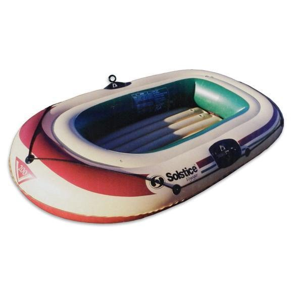 Solstice Voyager 2 Person Inflatable Boat with Pump and Oars Image