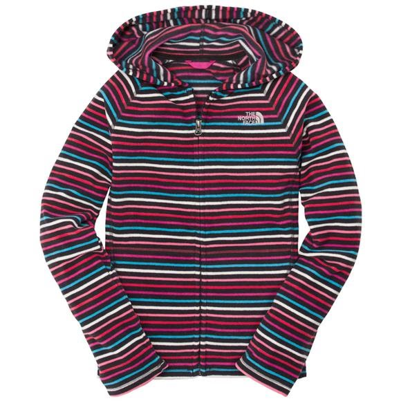 648512ac3 The North Face Youth Girls Striped Glacier Full Zip Hoodie Image