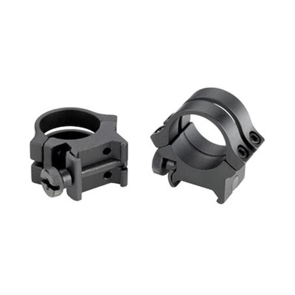 Weaver Quad Lock 1 Inch High Matte Black Rings (49047) Image