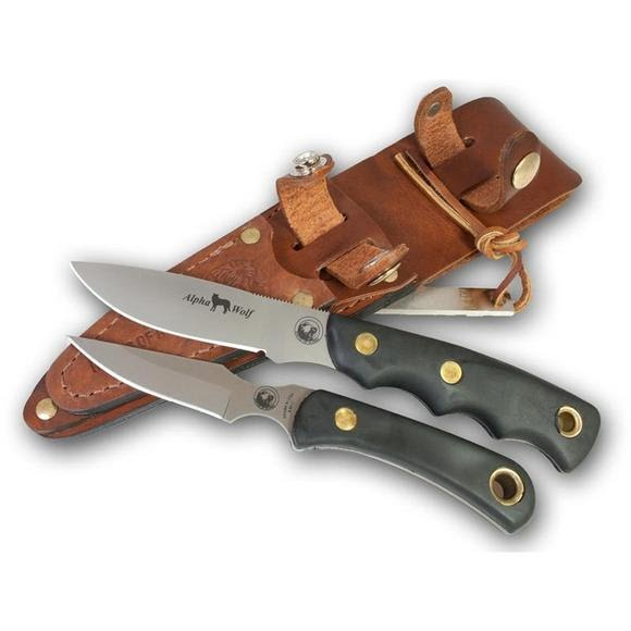 Knives Of Alaska Alpha Wold D2/Cub Bear Fixed Blade Combo Image