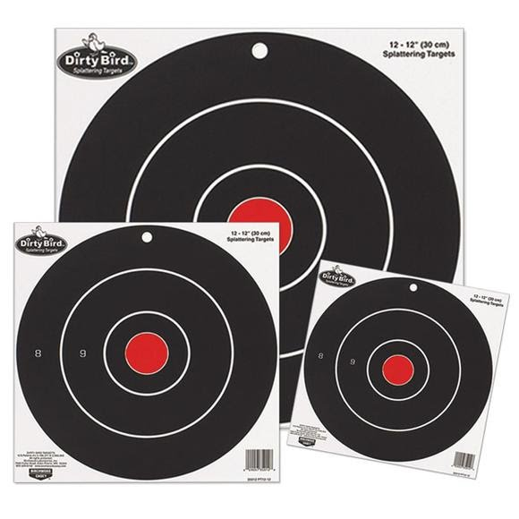 Birchwood Casey Dirty Bird 12 Inch Bullseye: 12 Targets Image