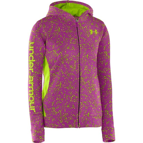2707f789 Under Armour Girl's Youth Armour Fleece Full Zip Hoodie