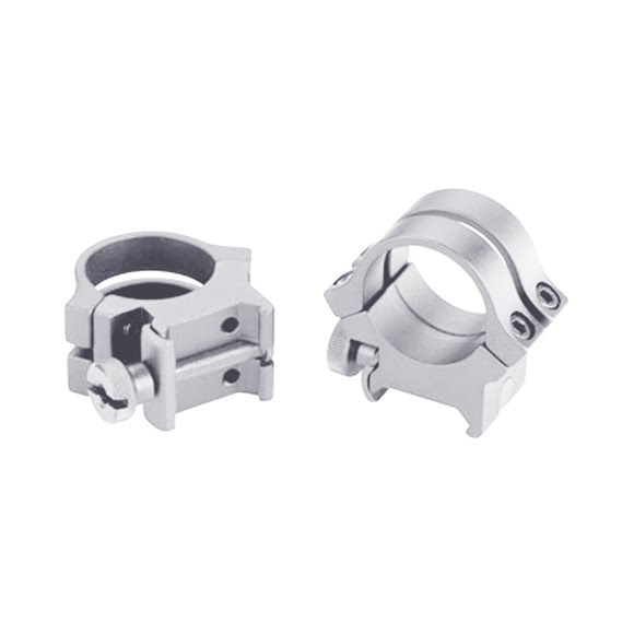 Weaver Quad Lock Rings (1 Inch, High, Silver) Image