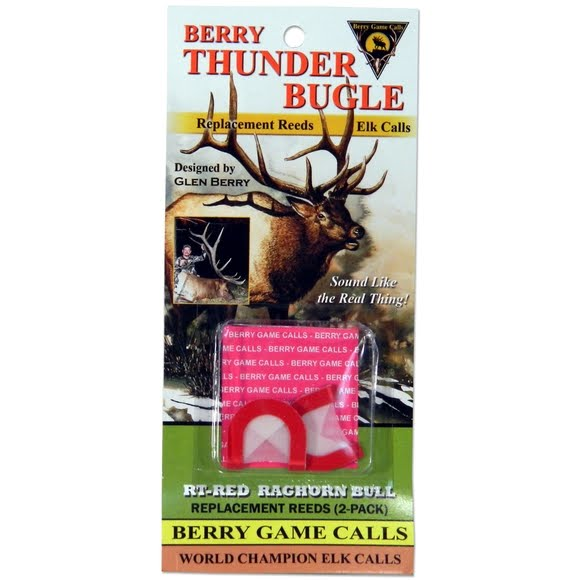 Berry Game Calls RT-Red Rachorn Bull Replacement Reeds for Thunder Bugle Elk Call Image
