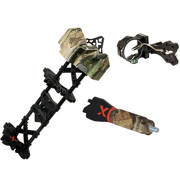 Archer Xtreme AXT Pursuit X3 Sight, Carbon Helix Quiver, Triad Stabilizer Combo Set Image