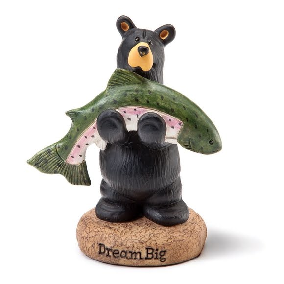 Big Sky Carvers Dream Big Fish Mini Figurine Image