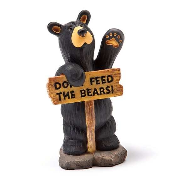 Big Sky Carvers Don't Feed the Bears Mini Figurine Image