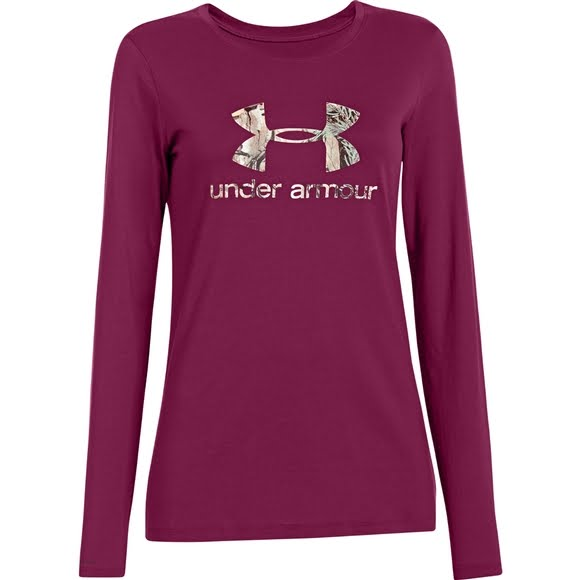 65ec2941 Under Armour Women's UA Camo Logo Long Sleeve Image