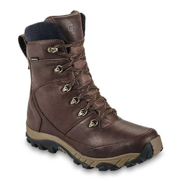 dbe833408 The North Face Mens Chilkat Leather Insulated Tall Boots