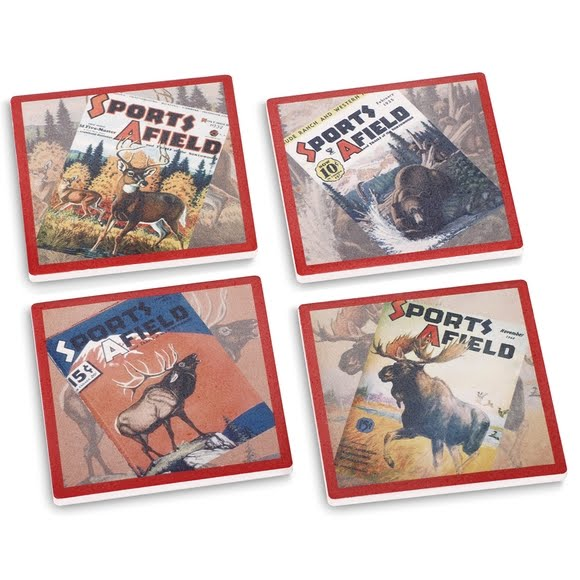 Big Sky Carvers Sports Afield Big Game Coasters (Set of 4) Image