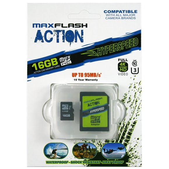 Delkin Action 16GB Hyperspeed microSD Memory Card Image