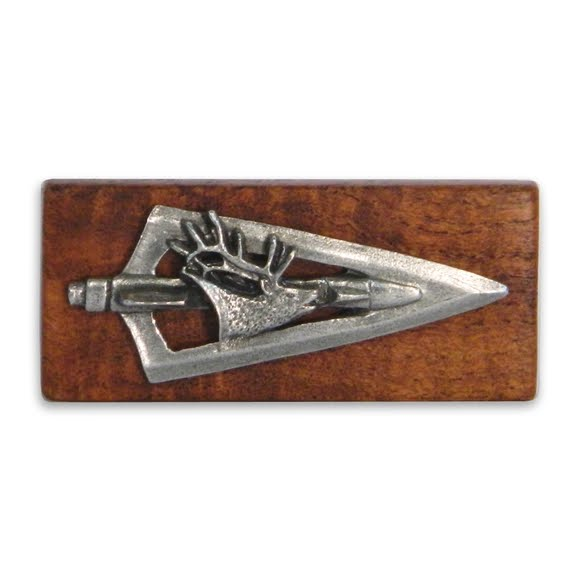 11 Outdoors Elk Broadhead Handcrafted Money Clip Image