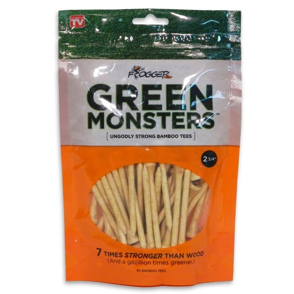 Charter Products Frogger Green Monster Bamboo 2 3/4-Inch Tees (50 Pack) Image