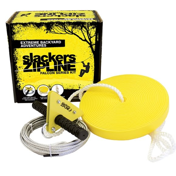 Slackers Falcon Series 40ft Zipline Kit with Seat Image - Slackers Falcon Series 40ft Zipline Kit With Seat