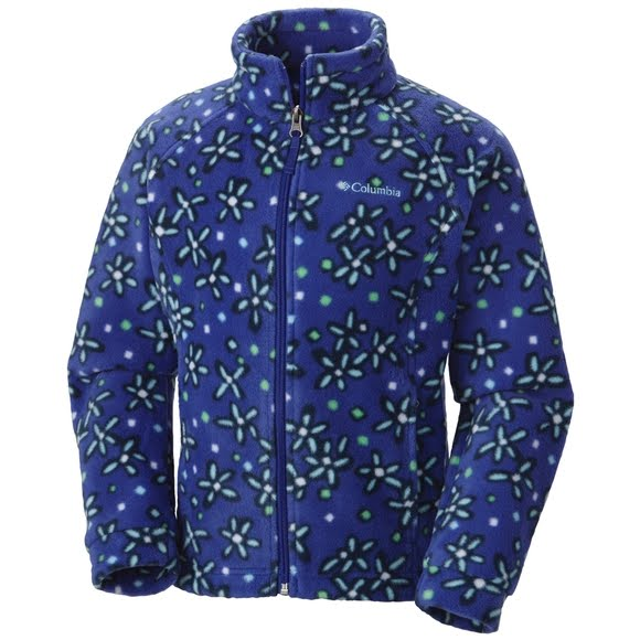 Columbia Youth Girl's Benton Springs II Printed Fleece Jacket Image