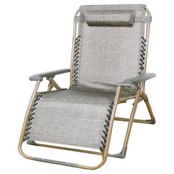 World Famous Zero Gravity Oversized Square Steel Frame Lounge Chair Image