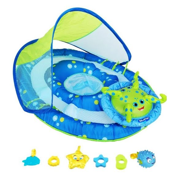 Swim Ways Baby Spring Float Activity Center with Canopy Image