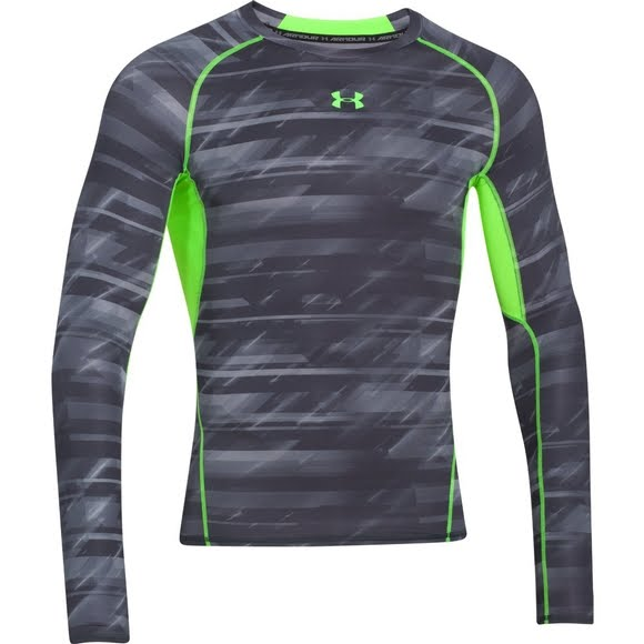 67997bbe Under Armour Men's UA HeatGear Armour Printed Long Sleeve Compression Shirt  Image