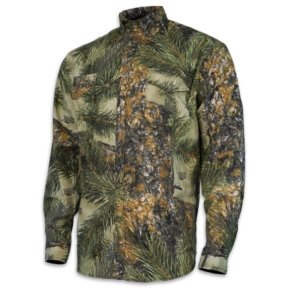 World Famous Button Down Long Sleeve Camo Shirt Image