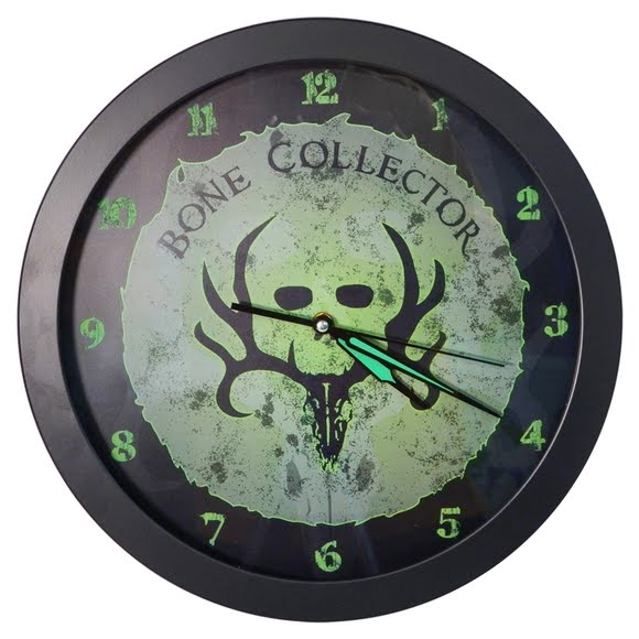 Spg Bone Collector Glow In The Dark Clock Image