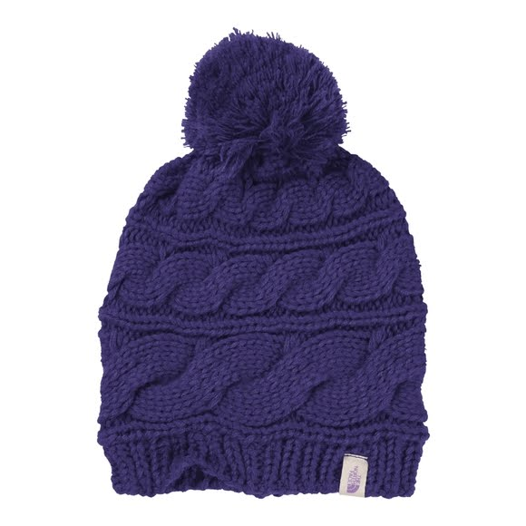 32861b0fdf712 The North Face Women s Triple Cable Pom Beanie Image